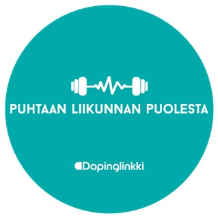 Kuvassa Puhtaan liikunnan puolesta logo